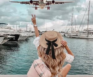 travel, fashion, and ocean image