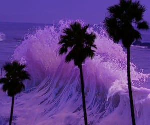 aesthetic, lilac, and ocean image
