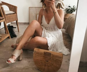boho, heels, and romantic image