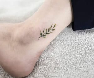 tattoo, plants, and green image