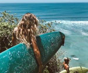 blonde, surf, and ocean image