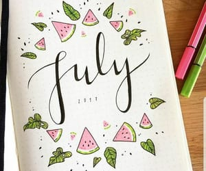july and bullet journal image