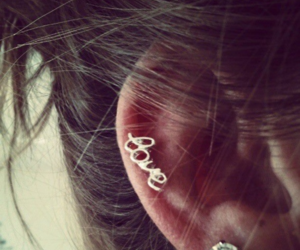 love, earrings, and hair image