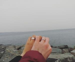 beach, couple, and islam image