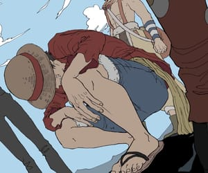 one piece, luffy, and strawhat pirates image