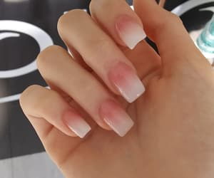 manicure, nails, and french tips image