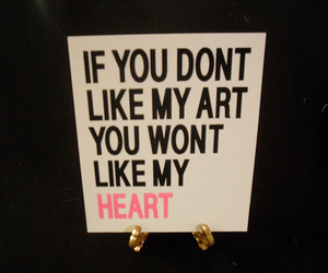 art, heart, and text image