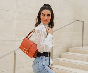 bag, chic, and denim image