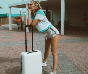 airport, summer, and fashion image