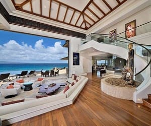 beach house, home design, and mansion image