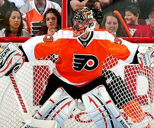 flyers, goalie, and hockey image