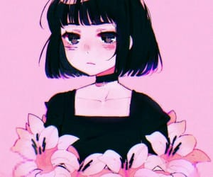 aesthetic, anime, and flowers image