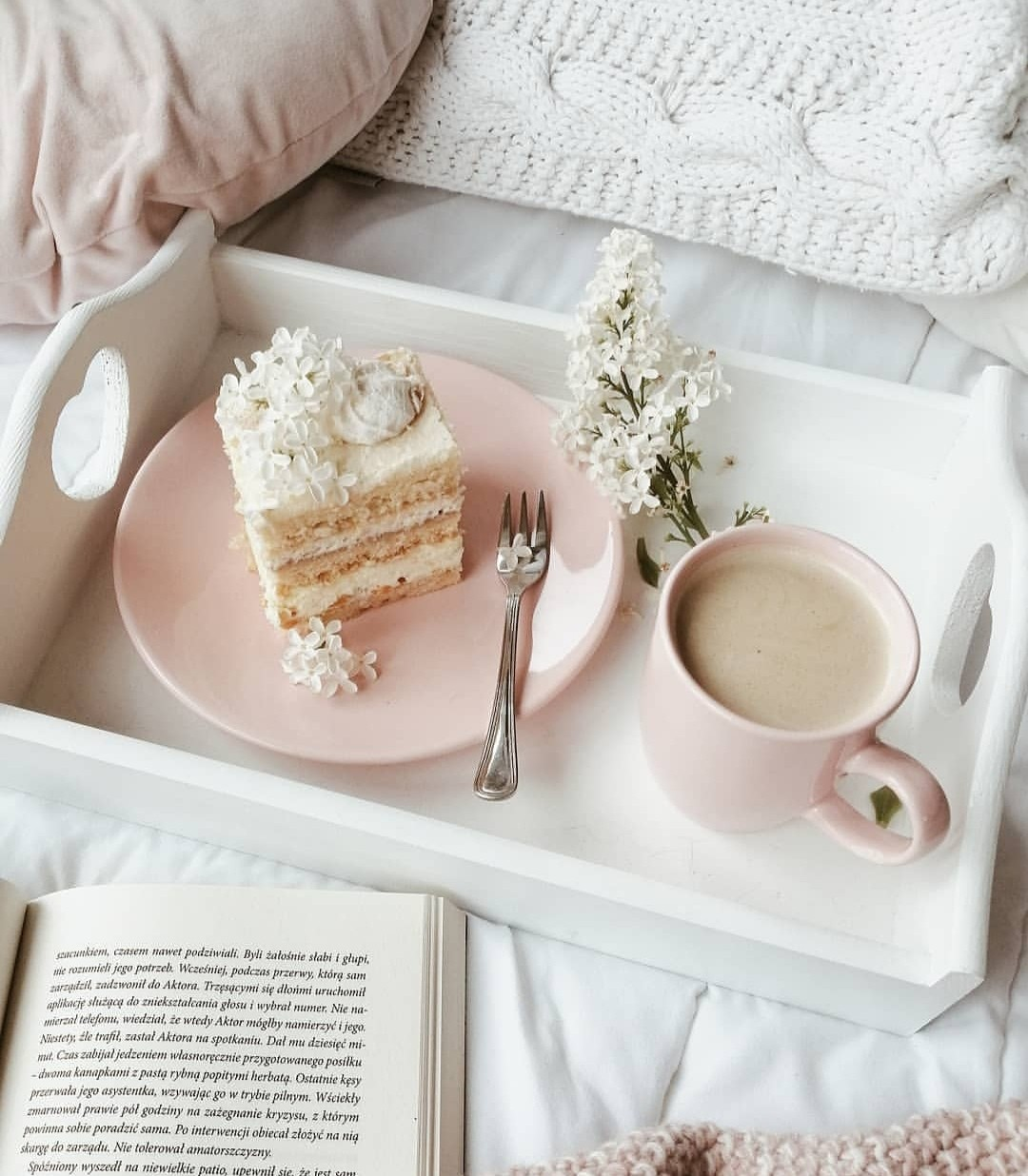 books, cake, and coffee image