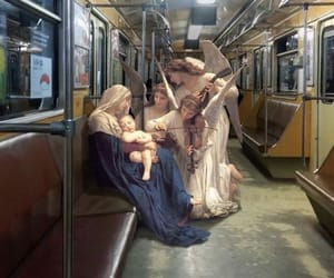 art, subway, and angel image