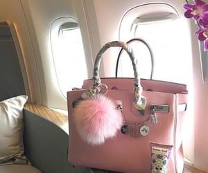 bag, pink, and handbag image