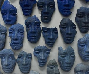 blue, mask, and face image