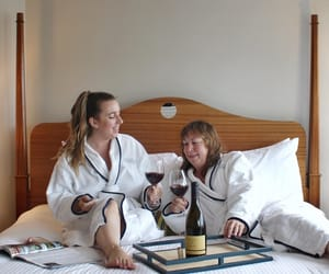 daughter, hotel, and luxury image