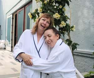 daughter, hotel, and mother image