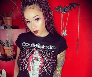 braids, box braids, and goth image