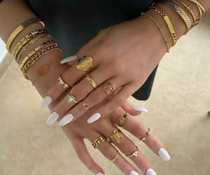 girl, nails, and rings image