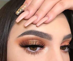 girl, makeup, and nails image