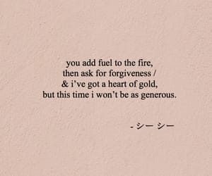 fire, gold, and quote image