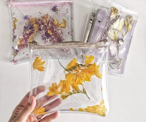 etsy, yellow flowers, and travel purse image