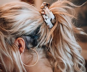 aesthetic, scrunchie, and blonde image
