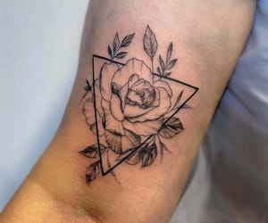 arm, triangle, and rose image