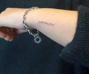 arm, tattoo, and loyalty image