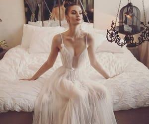 fashion, wedding dress, and fiancee image