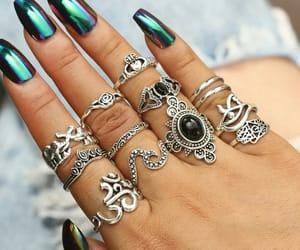 fashion, nail, and ring image