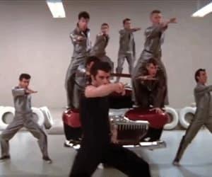 John Travolta, gif, and grease image