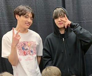 bts, jungkook, and v image