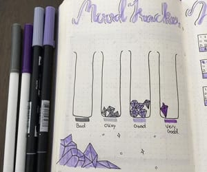 organization, mood tracker, and planner image
