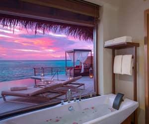 alternative, bath tub, and bed image