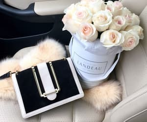 bag, car, and flowers image