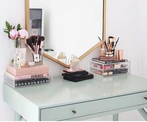 makeup, mirror, and decor image