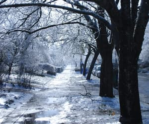 grey, ice, and sidewalk image