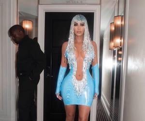 aesthetic, blue, and kim kardashian image