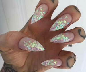 glitter, nail art, and stars image
