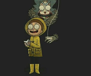 it, rick and morty, and wallpaper image