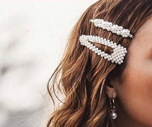 hair, accessories, and pearls image