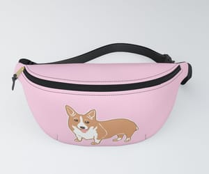 accessories, corgi, and pink image