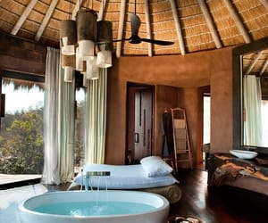 luxury, bath tub, and bathroom image
