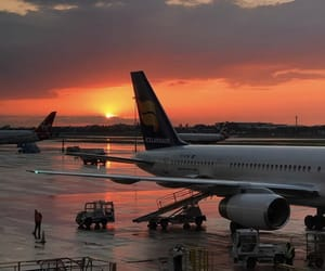 airplane, airport, and discover image