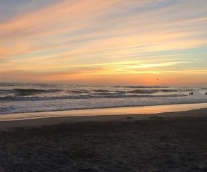 beach, feelings, and sunset image