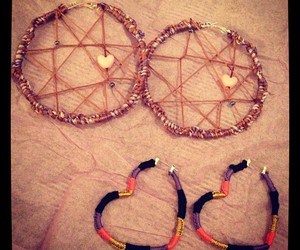 diy, dreamcatcher, and earrings image