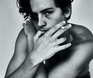 cole sprouse, boy, and black and white image