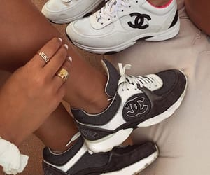 shoes sneakers, summer été look, and outfit clothes chic image